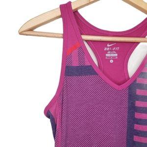 Nike Dry Fit Purple & Pink Striped Racerback Tank